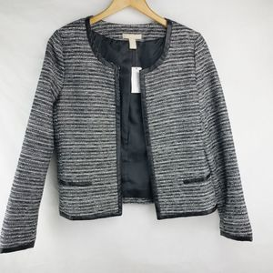 Banana Republic Collarless Blazer Jacket Sz 10
